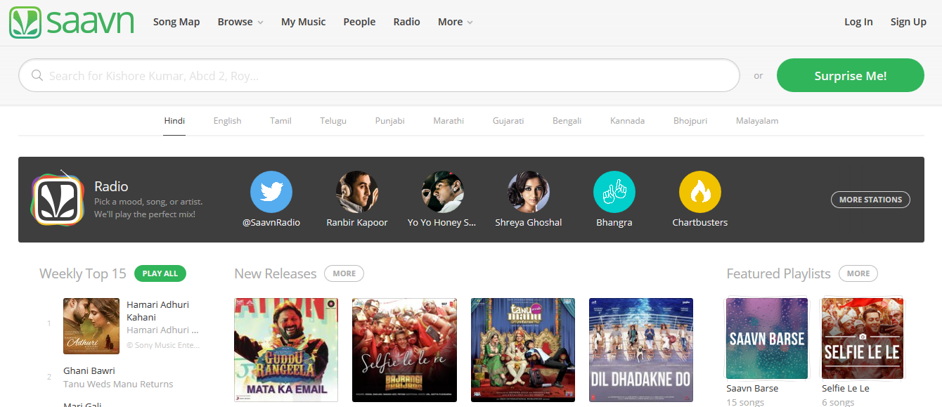 Saavn - Hindi Songs
