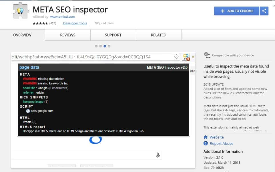 Meta SEO Inspector - Browser Extensions for Powerful SEO