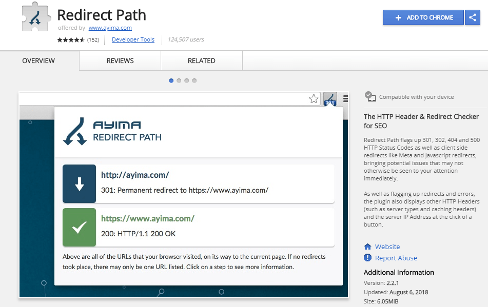 Redirect Path Checker - Browser Extensions for Powerful SEO