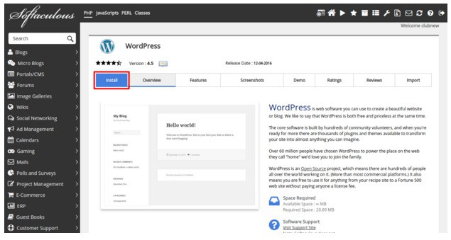 Install WordPress - Complete WordPress Guide for Just Born Bloggers