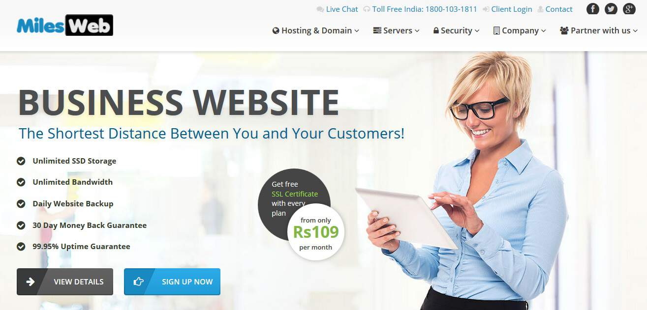 Business Website Hosting - Reasons to Host your Website with MilesWeb