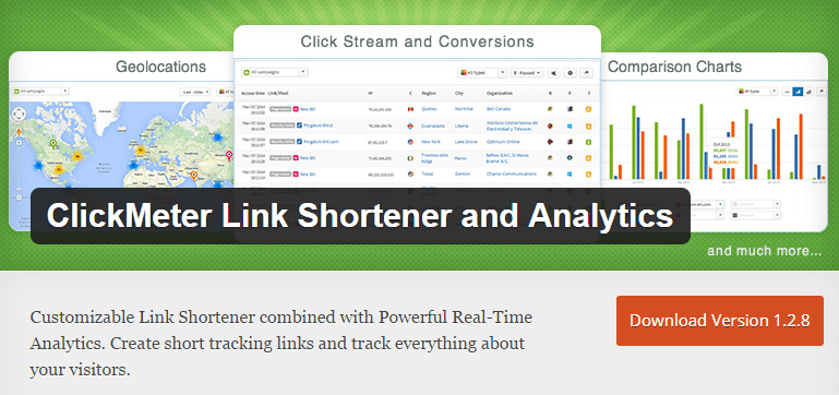 ClickMeter Link Shortener - Free Affiliate Link Cloaking Plugins For WordPress Website