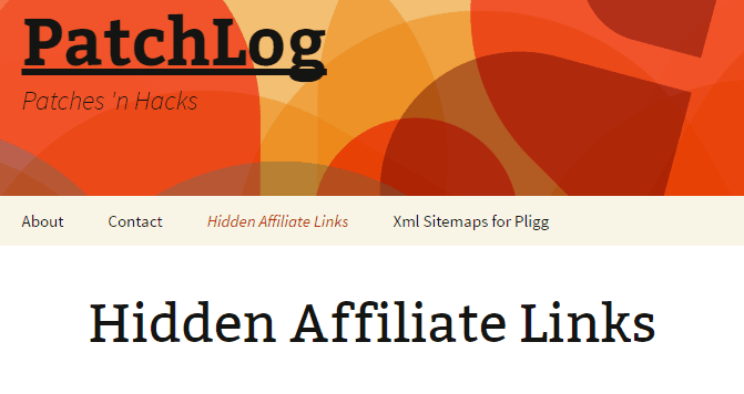 Hidden affiliate Links - Free Affiliate Link Cloaking Plugins For WordPress Website